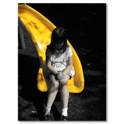 Αφίσα (κορίτσι, μαύρο, λευκό, άσπρο)